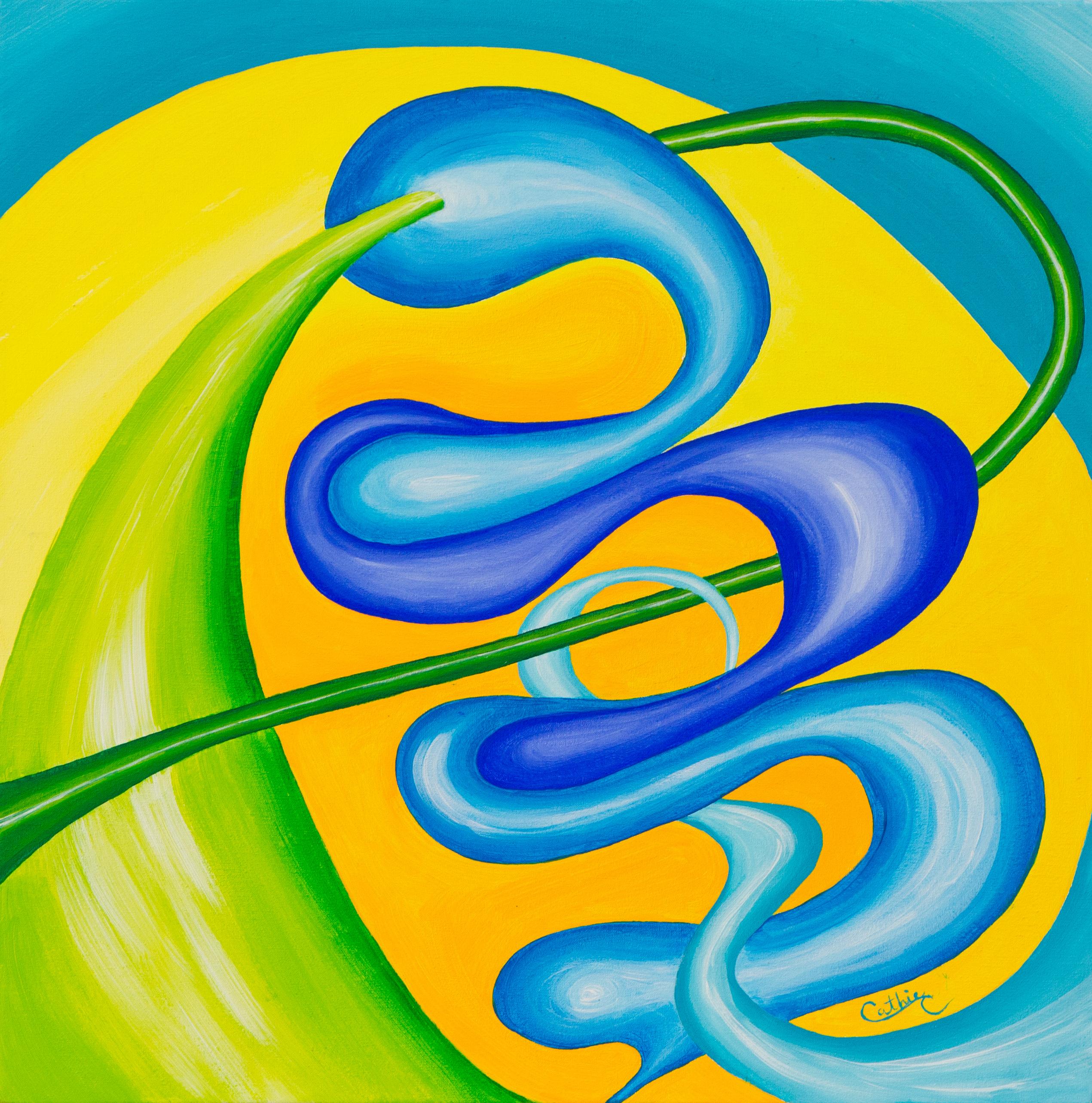 Abstracto Serpiente Azul